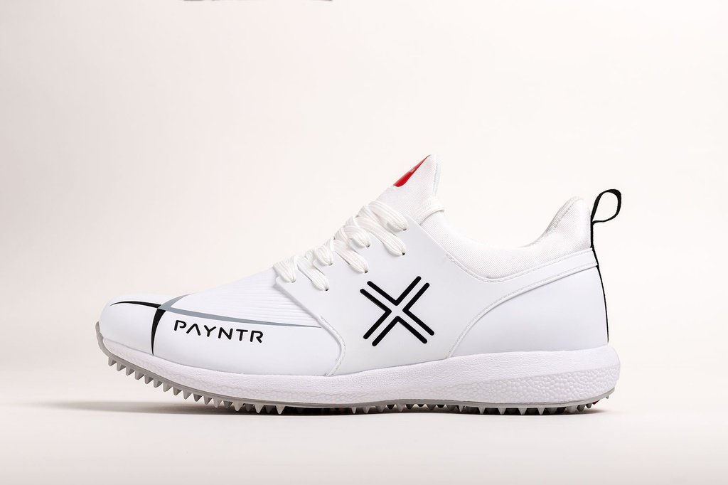 Payntr X MK3 Evo Pimple - Classic White Cricket Shoes