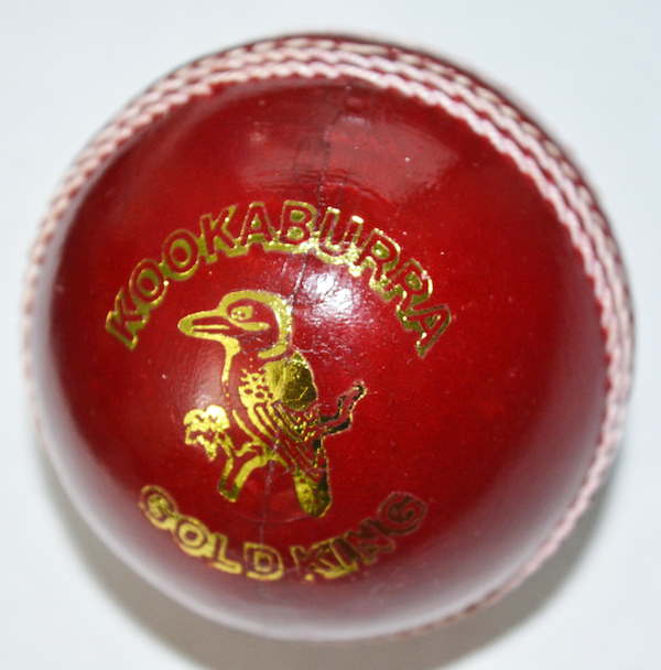 Kookaburra Cricket Ball - Gold King - Red/Pink/White